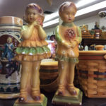 "Chalk ware couple ""SOLD"""